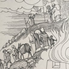 Arte: LA CAIDA DE JERUSALEN. ORIGINAL DE MONNERAT (1917-2005). Lote 180883773