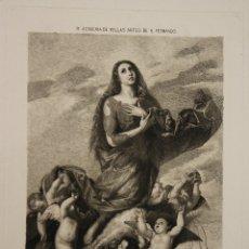 Arte: GRABADO EXTASIS DE STA. MARIA MAGDALENA. RIBERA. SIGLO XIX. Lote 181024617