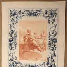 Arte: GRABADO S. LUCAS EVANGELISTA. L. GUIDOTTI BOLO. SIGLO XIX. Lote 181025532