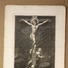 Arte: GRABADO CALCOGRAFICO CRISTO CRUCIFICADO. SIGLO XVIII. Lote 181025756