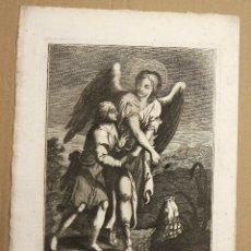 Arte: GRABADO CALCOGRAFICO S. ANGELUS RAPHAEL. AP. CAVALLI. SIGLO XVIII. Lote 181027278