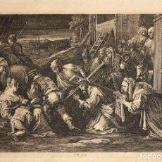 Arte: GRABADO CALCOGRAFICO CRISTO CRUCIFICADO. SIGLO XVII. Lote 181029652