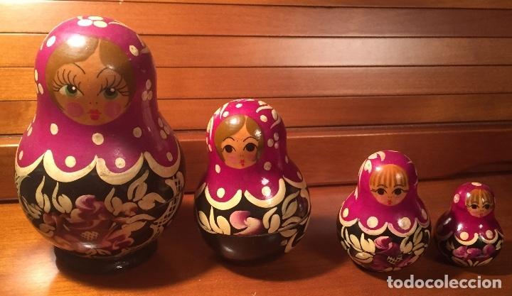 Arte: Preciosas muñecas rusas madera pintadas a mano bonitos colores - Foto 3 - 181134682