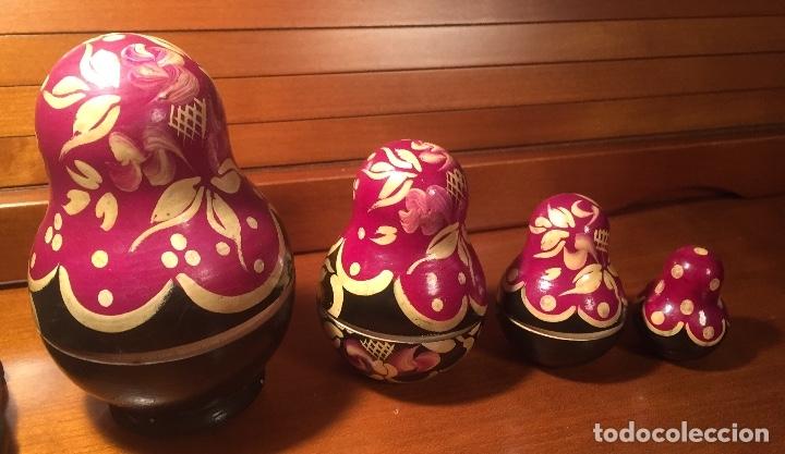 Arte: Preciosas muñecas rusas madera pintadas a mano bonitos colores - Foto 4 - 181134682