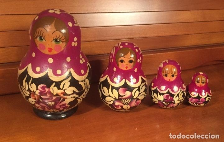 Arte: Preciosas muñecas rusas madera pintadas a mano bonitos colores - Foto 5 - 181134682