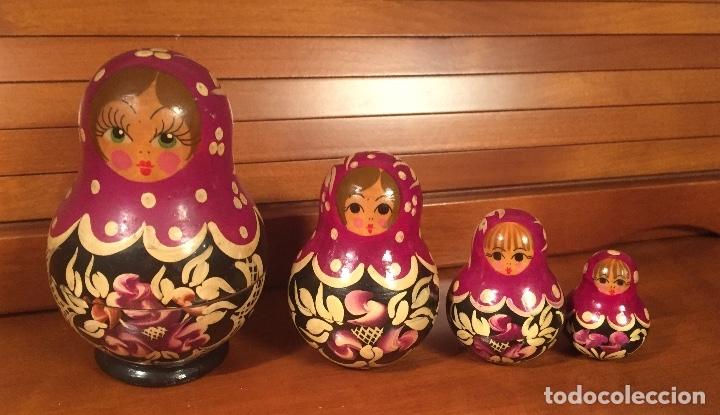 Arte: Preciosas muñecas rusas madera pintadas a mano bonitos colores - Foto 6 - 181134682