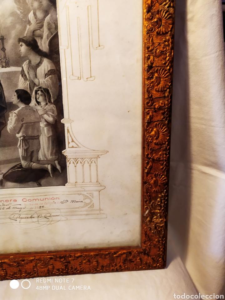 Arte: GRABADO DE 1922, RECUERDO DE PRIMERA COMUNIÓN, ENMARCADO, ÚNICO EN INTERNET, VER - Foto 10 - 181187446