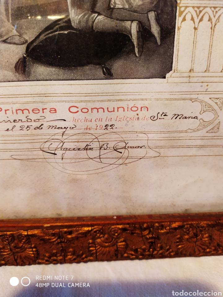 Arte: GRABADO DE 1922, RECUERDO DE PRIMERA COMUNIÓN, ENMARCADO, ÚNICO EN INTERNET, VER - Foto 11 - 181187446