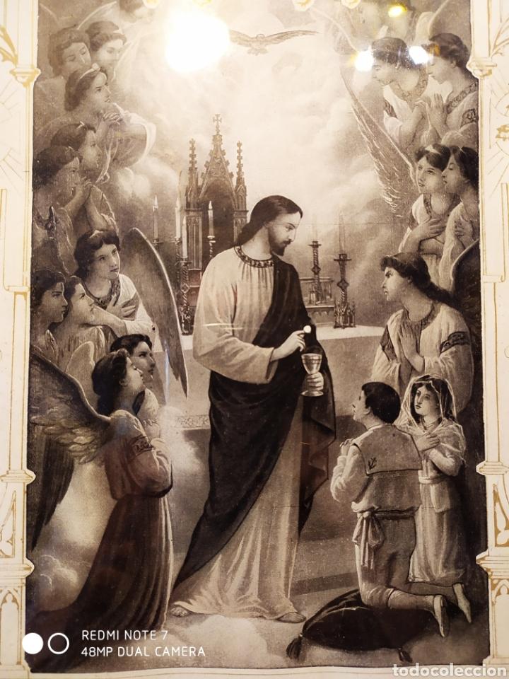 Arte: GRABADO DE 1922, RECUERDO DE PRIMERA COMUNIÓN, ENMARCADO, ÚNICO EN INTERNET, VER - Foto 13 - 181187446