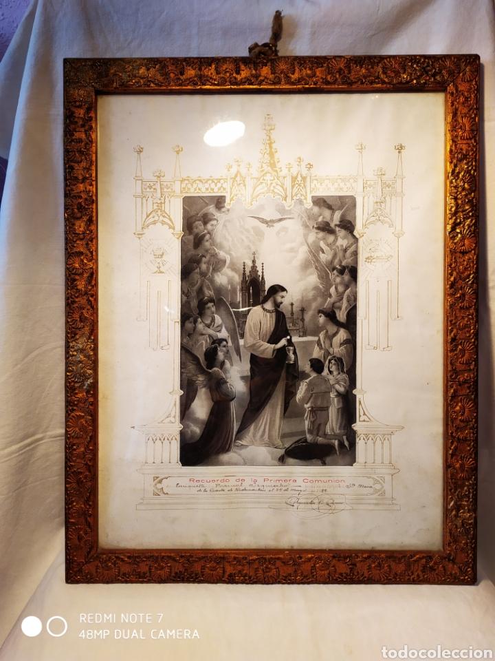 Arte: GRABADO DE 1922, RECUERDO DE PRIMERA COMUNIÓN, ENMARCADO, ÚNICO EN INTERNET, VER - Foto 15 - 181187446