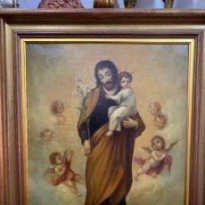 Arte: PINTURA RELIGIOSA ANTIGUA SAN JOSÉ . Lote 181338676