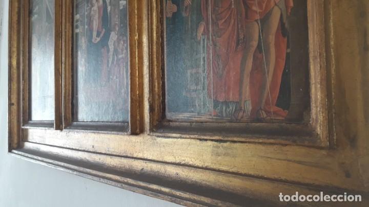 Arte: TRÍPTICO de MADERA CON ESCENAS RELIGIOSAS, 92x55 cm. - Foto 3 - 181338728