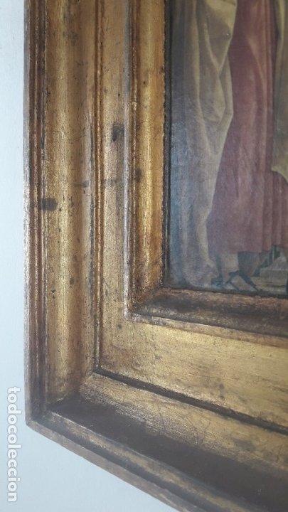 Arte: TRÍPTICO de MADERA CON ESCENAS RELIGIOSAS, 92x55 cm. - Foto 4 - 181338728