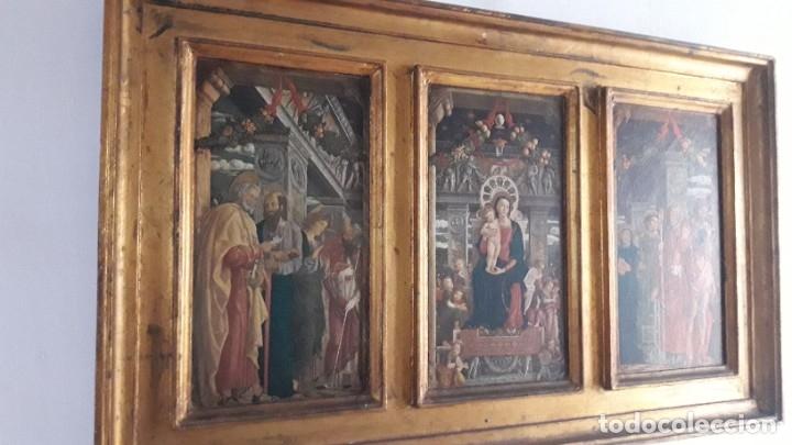 Arte: TRÍPTICO de MADERA CON ESCENAS RELIGIOSAS, 92x55 cm. - Foto 5 - 181338728