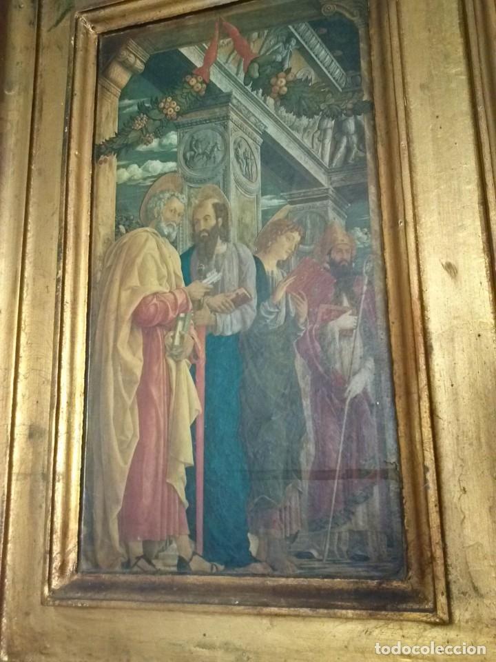 Arte: TRÍPTICO de MADERA CON ESCENAS RELIGIOSAS, 92x55 cm. - Foto 7 - 181338728