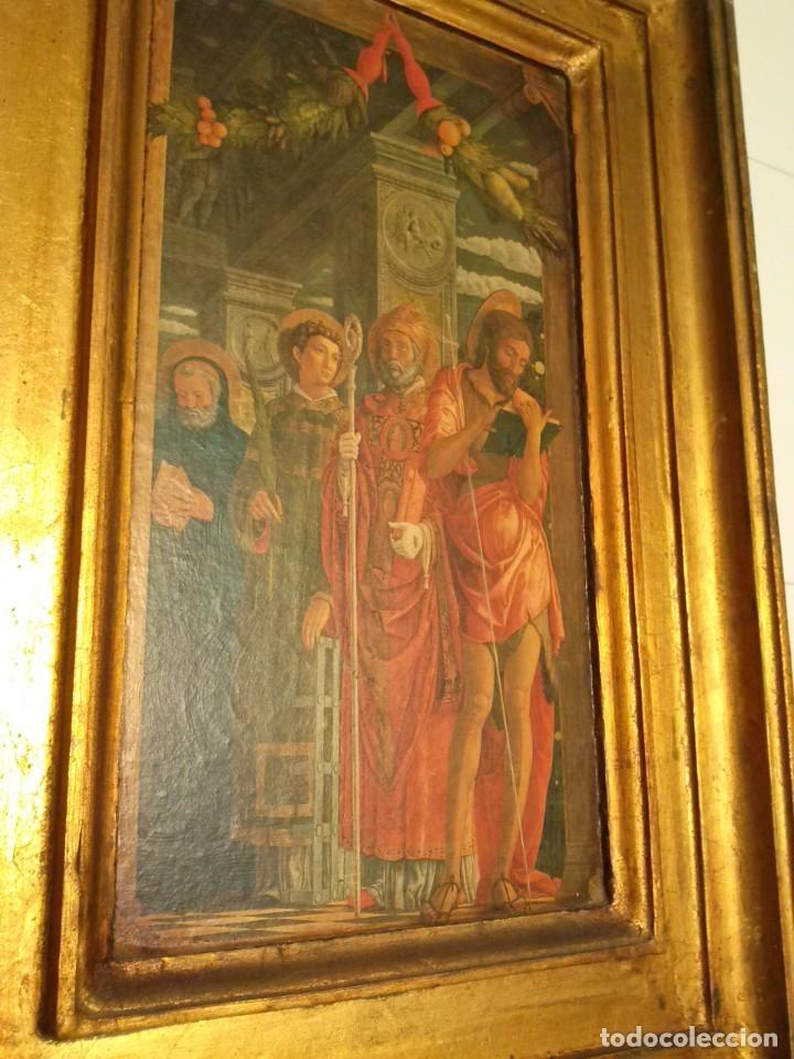 Arte: TRÍPTICO de MADERA CON ESCENAS RELIGIOSAS, 92x55 cm. - Foto 8 - 181338728
