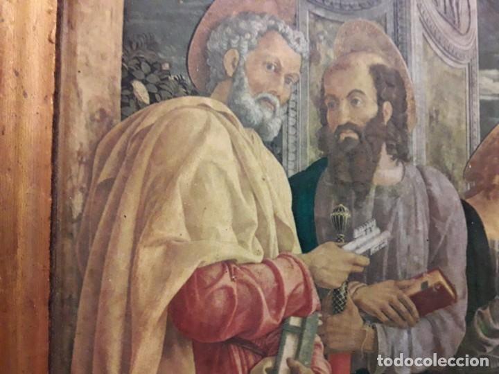Arte: TRÍPTICO de MADERA CON ESCENAS RELIGIOSAS, 92x55 cm. - Foto 9 - 181338728
