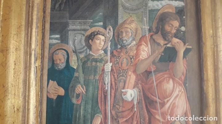 Arte: TRÍPTICO de MADERA CON ESCENAS RELIGIOSAS, 92x55 cm. - Foto 10 - 181338728