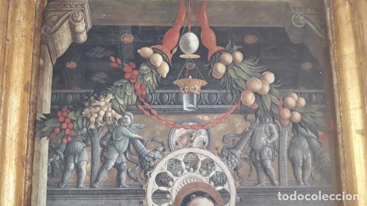 Arte: TRÍPTICO de MADERA CON ESCENAS RELIGIOSAS, 92x55 cm. - Foto 11 - 181338728