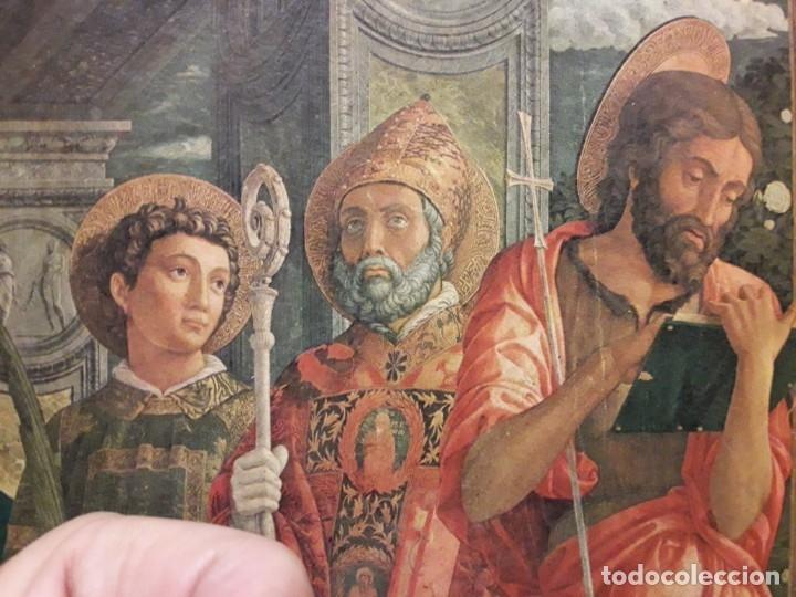 Arte: TRÍPTICO de MADERA CON ESCENAS RELIGIOSAS, 92x55 cm. - Foto 12 - 181338728