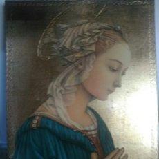Arte: PRECIOSA VIRGEN. ICONO. ORO. Lote 181349901