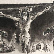 Arte: JESÚS EN LA CRUZ. PIERRE MONNERAT (SUIZA 1917-ESPAÑA 2005). Lote 181418688