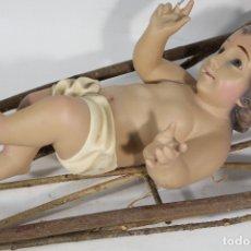 Arte: NIÑO JESUS EN LA CUNA - DE OLOT. Lote 181446682