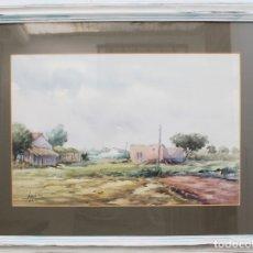 Arte: CUADRO -HUERTA VALENCIANA- DE JONÁS NAVARRO 1989. ACUARELA, VALENCIA.. Lote 181470733