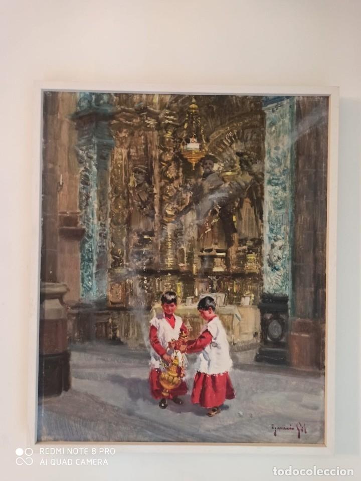 OLEO DE IGNACIO GIL SALA (Arte - Arte Religioso - Pintura Religiosa - Oleo)