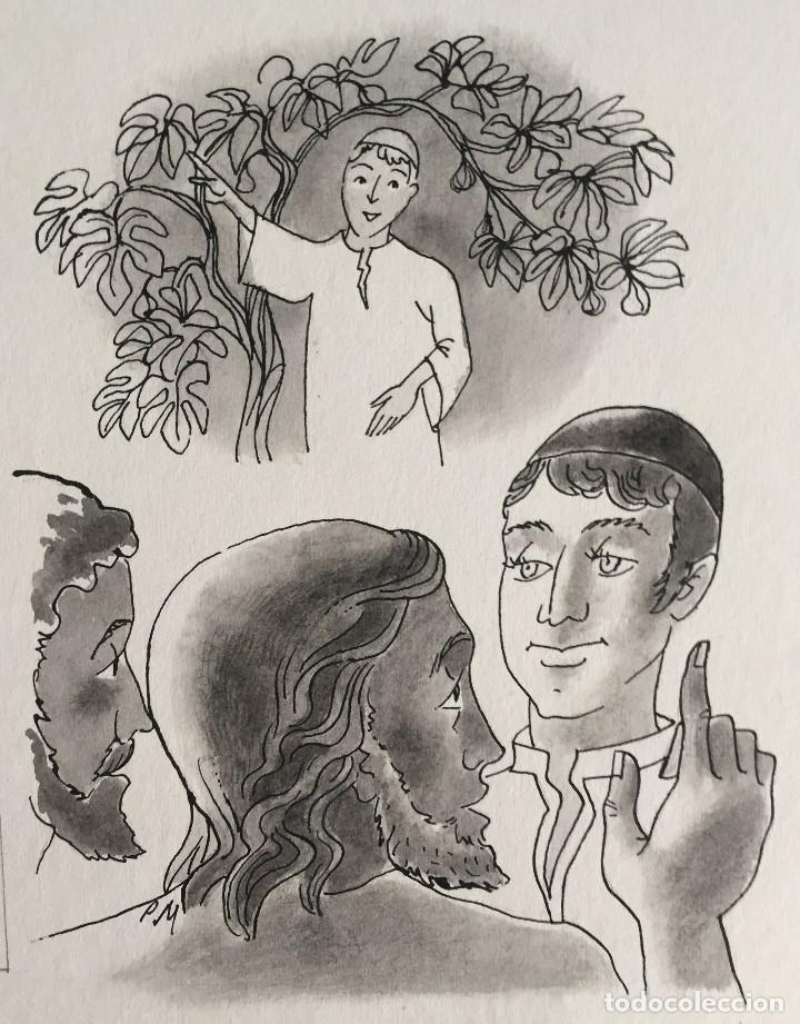 JESÚS ELIGE A SUS PRIMEROS DISCÍPULOS: NATANAEL. PIERRE MONNERAT (1917-2005) (Arte - Arte Religioso - Pintura Religiosa - Acuarela)