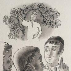Arte: JESÚS ELIGE A SUS PRIMEROS DISCÍPULOS: NATANAEL. PIERRE MONNERAT (1917-2005). Lote 181496890