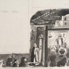 Arte: PABLO DE TARSO EN TROAS. PIERRE MONNERAT (1917-2005). FIRMADA Y REPRODUCIDA. Lote 181507126