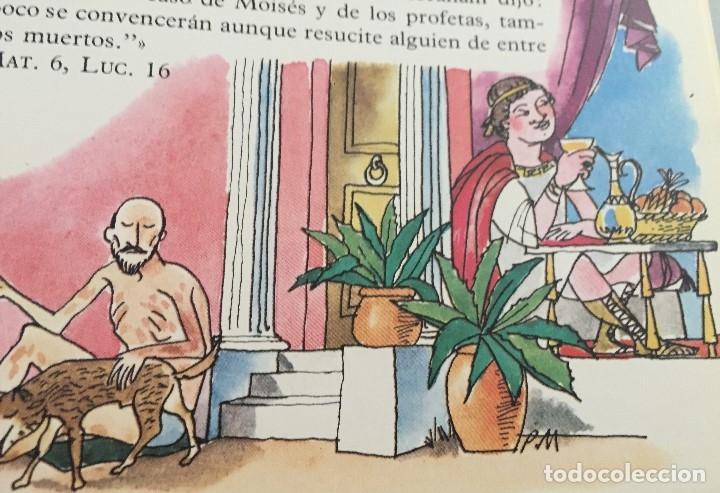 Arte: Lázaro y el hombre rico. Pierre Monnerat (1917-2005). Firmada y reproducida - Foto 4 - 181514210