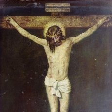 Arte: PINTURA RELIGIOSA ANTIGUA, PEGADA A TABLA. DIM.- 22,5X18 CMS.. Lote 181617952