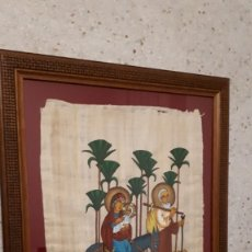 Arte: PAPIRO CON ESCENA PINTADA DE LA HUÍDA A EGIPTO. Lote 181692433