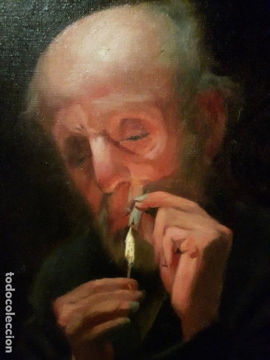 CUADRO OLEO LIENZO CATALAN (Arte - Arte Religioso - Pintura Religiosa - Oleo)