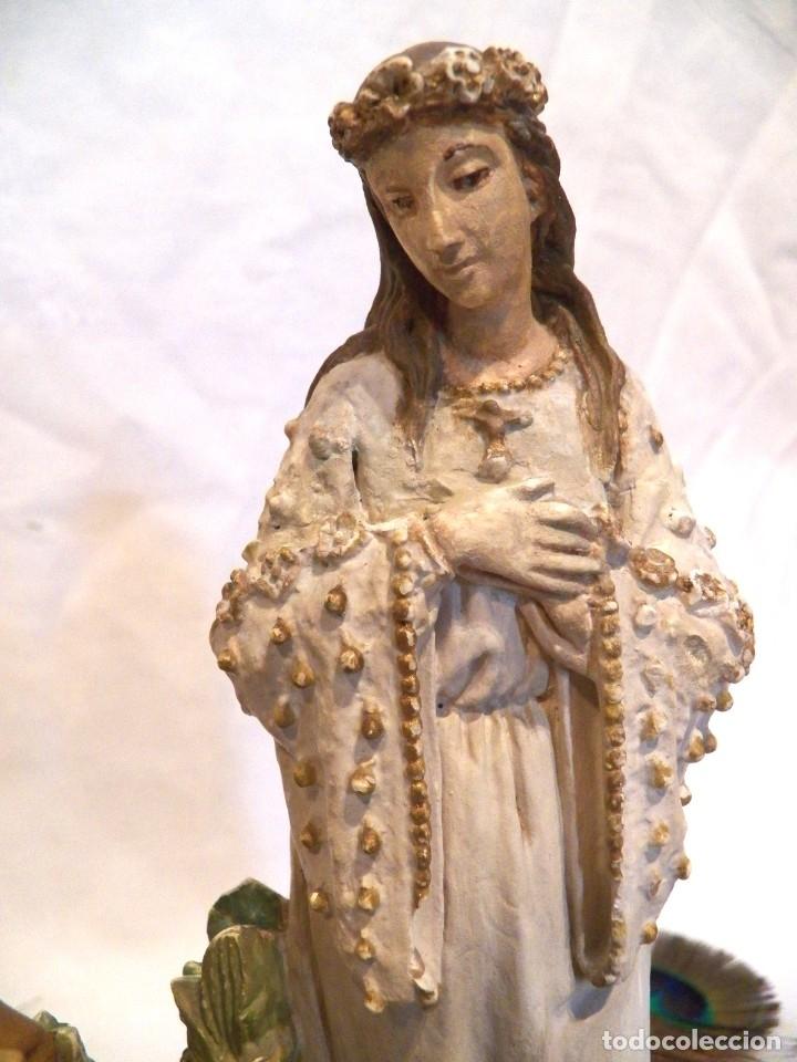 Arte: Antigua Virgen XIX, Virgen Salette, Virgen 2 Pastores, Virgen Escayola, Virgen Francesa, - Foto 3 - 181906512