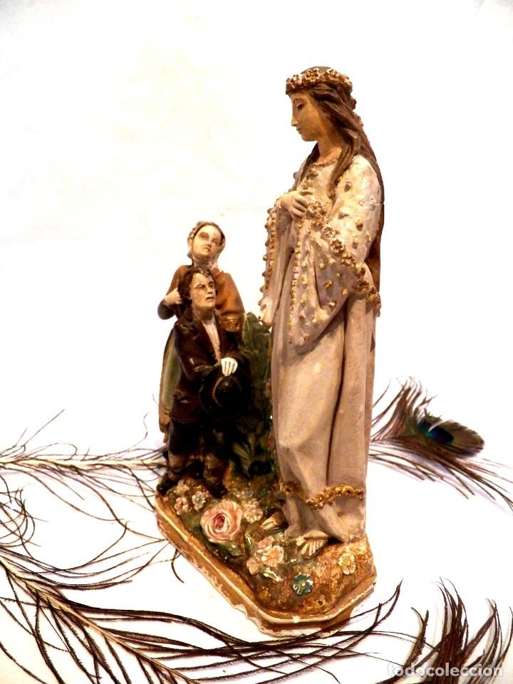 Arte: Antigua Virgen XIX, Virgen Salette, Virgen 2 Pastores, Virgen Escayola, Virgen Francesa, - Foto 8 - 181906512