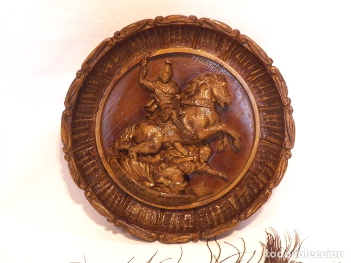 Arte: Icono Madera Tallada, Icono San Jorge, Icono Relieve, Icono Religioso, Icono Español - Foto 2 - 181931776
