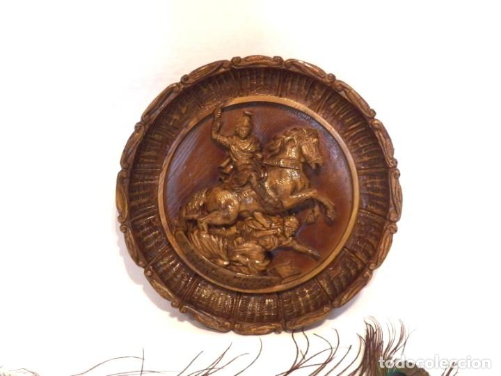 Arte: Icono Madera Tallada, Icono San Jorge, Icono Relieve, Icono Religioso, Icono Español - Foto 3 - 181931776