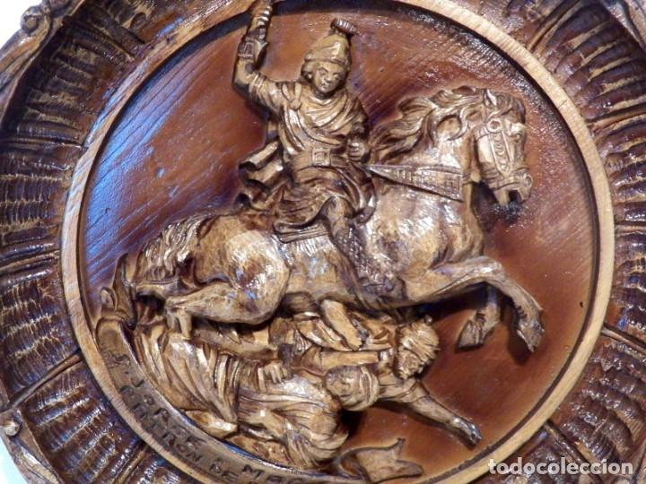 Arte: Icono Madera Tallada, Icono San Jorge, Icono Relieve, Icono Religioso, Icono Español - Foto 6 - 181931776