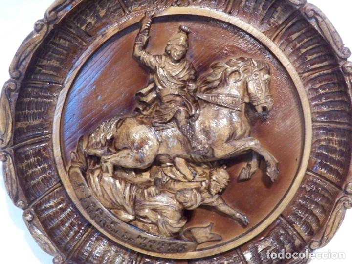 Arte: Icono Madera Tallada, Icono San Jorge, Icono Relieve, Icono Religioso, Icono Español - Foto 7 - 181931776