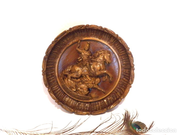 Arte: Icono Madera Tallada, Icono San Jorge, Icono Relieve, Icono Religioso, Icono Español - Foto 8 - 181931776