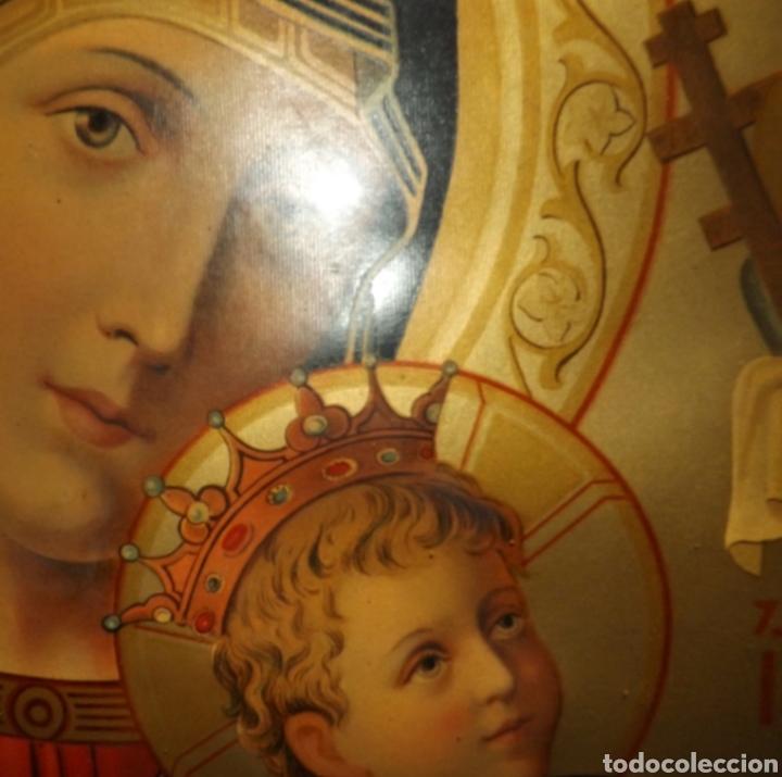 Arte: Extraordinaria Antigua Virgen del Perpetuo Socorro posiblemente de oratorio religioso. Gran tamaño - Foto 7 - 181977037