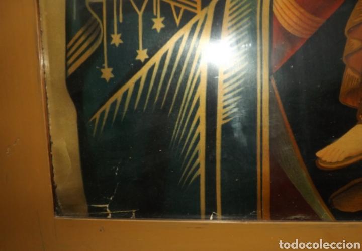 Arte: Extraordinaria Antigua Virgen del Perpetuo Socorro posiblemente de oratorio religioso. Gran tamaño - Foto 9 - 181977037