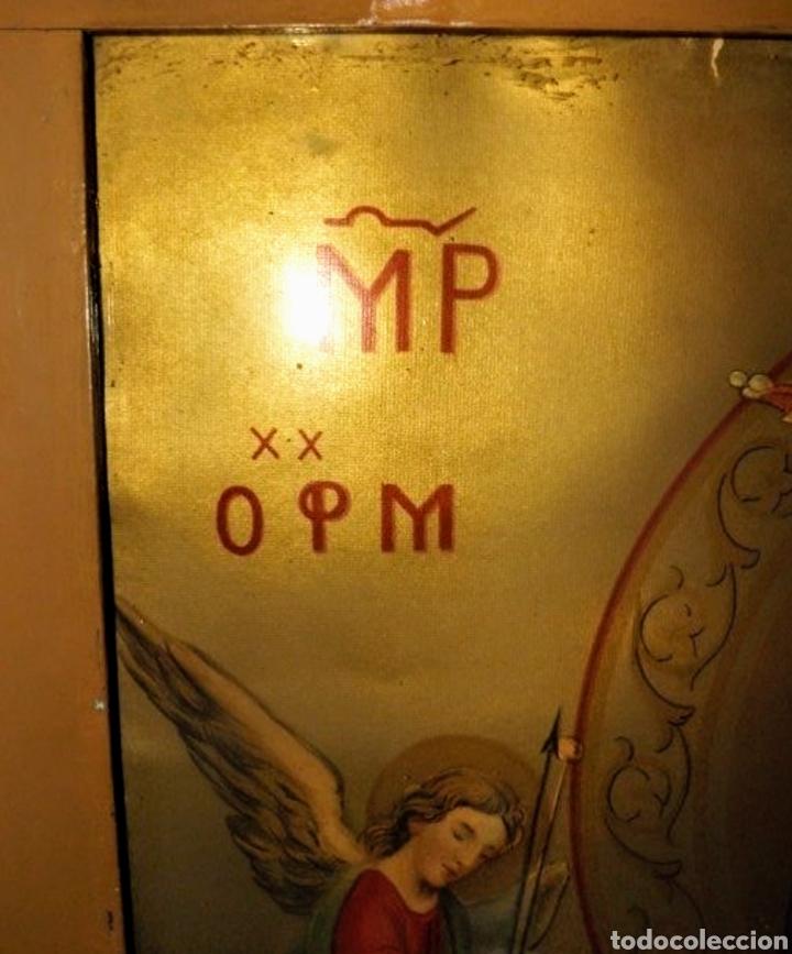 Arte: Extraordinaria Antigua Virgen del Perpetuo Socorro posiblemente de oratorio religioso. Gran tamaño - Foto 16 - 181977037