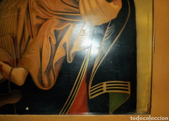 Arte: Extraordinaria Antigua Virgen del Perpetuo Socorro posiblemente de oratorio religioso. Gran tamaño - Foto 19 - 181977037