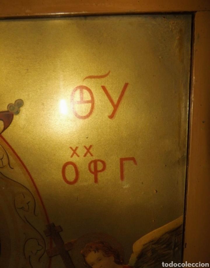 Arte: Extraordinaria Antigua Virgen del Perpetuo Socorro posiblemente de oratorio religioso. Gran tamaño - Foto 23 - 181977037