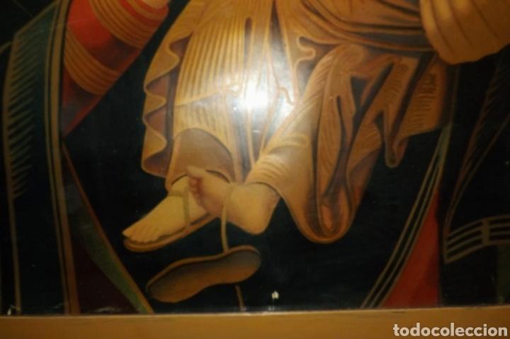 Arte: Extraordinaria Antigua Virgen del Perpetuo Socorro posiblemente de oratorio religioso. Gran tamaño - Foto 24 - 181977037