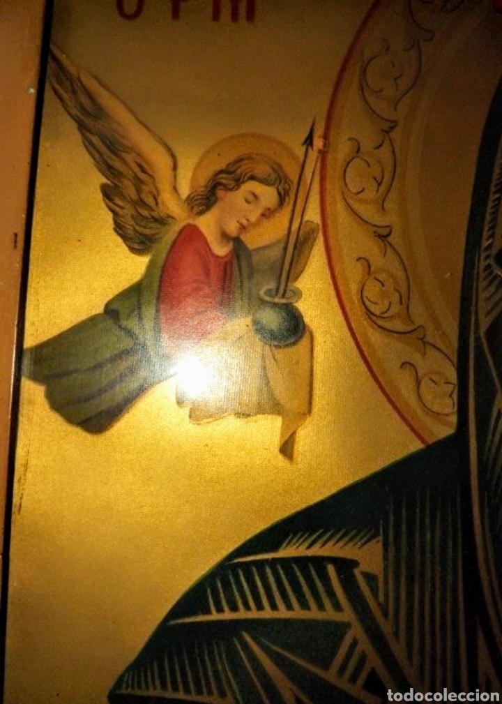 Arte: Extraordinaria Antigua Virgen del Perpetuo Socorro posiblemente de oratorio religioso. Gran tamaño - Foto 35 - 181977037